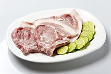 Pork Steak Or Loin Chop Royalty Free Stock Photography