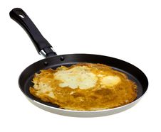 Free Pancake Cooking In A Pan Royalty Free Stock Photography - 8582767