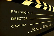 Free Old Film Clapboard Royalty Free Stock Photo - 8583015