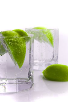 Free Water With Lime Slices Stock Photos - 8583503