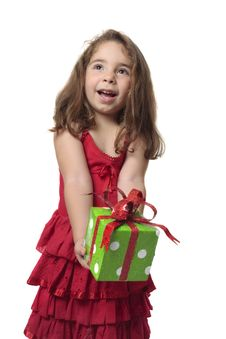 Free Girl Holding Gift Royalty Free Stock Photography - 8583667