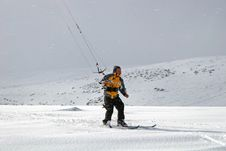 Free Kite Skiing Stock Image - 8584361