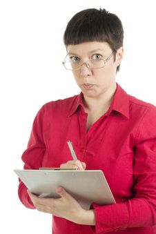 Free Worried Office Woman Royalty Free Stock Photography - 8584767