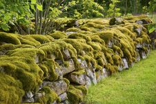 Free Mossy Stone Wall Stock Photography - 8584832