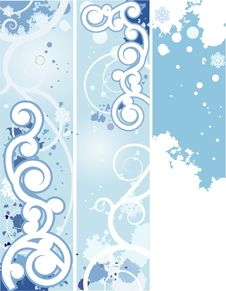 Free Winter Banners Stock Photo - 8585060