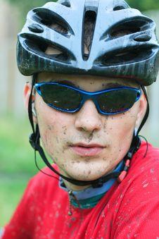 Free Mountain Bike Racer Stock Images - 8585074