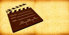 Free Old Film Clapboard Stock Photography - 8585242