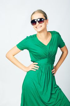 Free Green Dress Royalty Free Stock Photography - 8585527