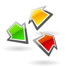 Glassy Web Sign Stock Image