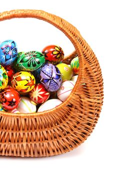 Free Easter Eggs In Wicker Basket Royalty Free Stock Images - 8586079