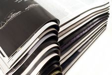 Open Magazines Stock Image