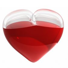 Free 3d Glass Heart Royalty Free Stock Images - 8586349