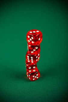 Free Tower Of Red Dice Stock Image - 8586611