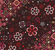 Free Floral Wallpaper. Vector. Royalty Free Stock Photo - 8587275