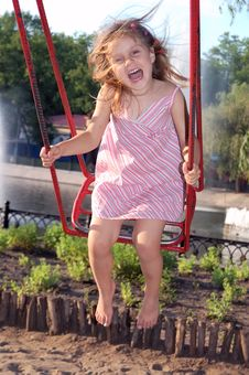 Free Happy Swinging Stock Photography - 8587382