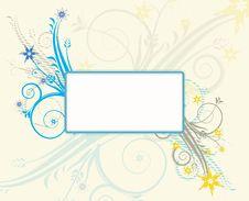 Floral Decorative Frame Stock Photo