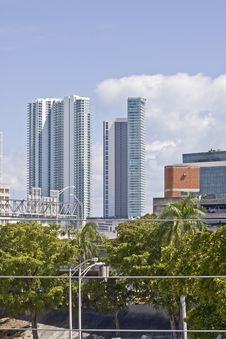 Free View Of The Buildings In Downtown Miami Florida Royalty Free Stock Photos - 8587828