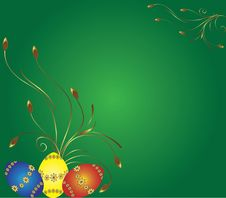 Free Card With Eggs And Flowers Royalty Free Stock Photo - 8587845