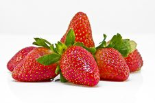 Free Strawberries Isolated On A White Background Stock Images - 8587964