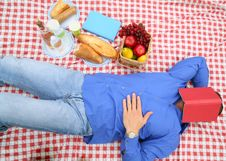 Free Sleeping In Picnic Royalty Free Stock Images - 8588579