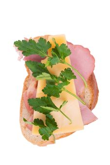 Free Open Faced Ham And Cheese Sandwich Stock Image - 8588971