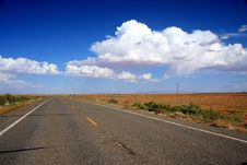 Road Through North Arizona Royalty Free Stock Image