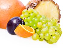 Fruits Isolated Royalty Free Stock Photography