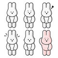 Free Bunnies Doing Expressions Royalty Free Stock Photos - 8591518