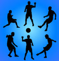 Free Football Players. Vector Illustration Stock Photos - 8592223