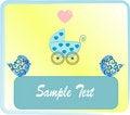 Free Pram Blue For Baby. Stock Photos - 8599643