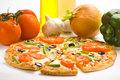 Free Homemade With Fresh Tomato Olive Mushroom Cheese Royalty Free Stock Images - 8599899