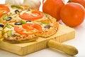 Free Homemade With Fresh Tomato Olive Mushroom Cheese Stock Image - 8599971