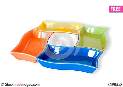 Free Five Colored Sauce-boats Royalty Free Stock Photos - 8598548