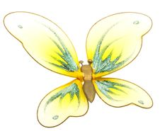 Beautiful Butterfly Toy Isolated On White Stock Photos