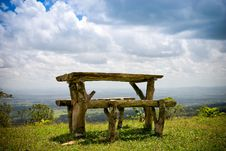 Free Wooden Bench And Table Stock Photos - 8590343