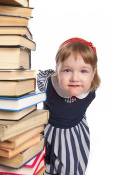 Free Little Girl With Book Stock Photography - 8590602