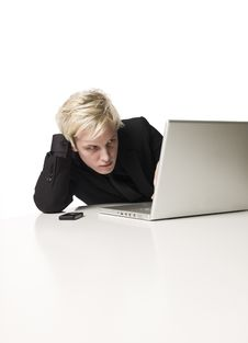 Free Boy With A Computer Royalty Free Stock Photo - 8590645