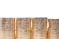 Free Coins Stacked Stock Images - 8591274