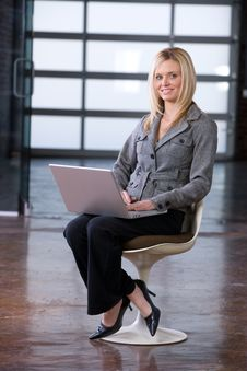 Business Woman Sitting Royalty Free Stock Photography