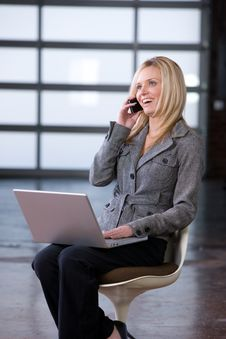 Free Business Woman On A Cell Phone Stock Images - 8592254