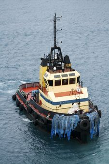Free Tugboat Facing Right Royalty Free Stock Images - 8592589