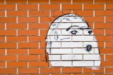 Free Face On The Wall Stock Photography - 8592882