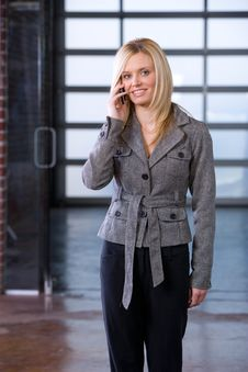 Free Business Woman On A Cell Phone Stock Photos - 8592893
