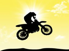 Free Biker In The Sun Stock Image - 8593351