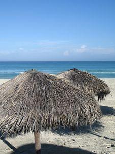 Free Parasols On The Beach Royalty Free Stock Photo - 8594205