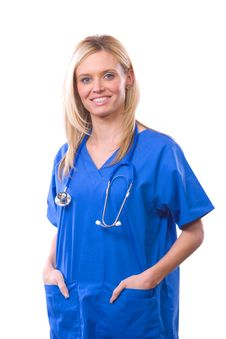 Free Female Medical Student Isolated Stock Photography - 8594412