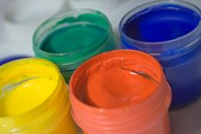 Free Gouache Paints, Close-up Royalty Free Stock Images - 8594469