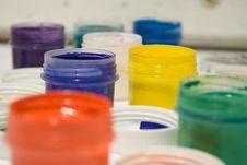 Free Multicolor Gouache Paints Royalty Free Stock Image - 8594486