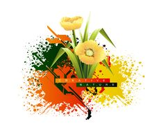 Free Spring Flower Background Royalty Free Stock Photos - 8594488