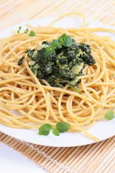 Pasta Spaghetti Stock Photo